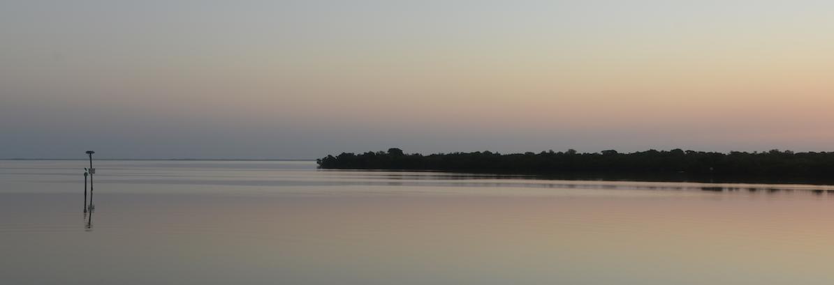 Soft serene sunrise at 'Tween Waters Inn overlooking Pine Island Sound, Captiva Island, FL