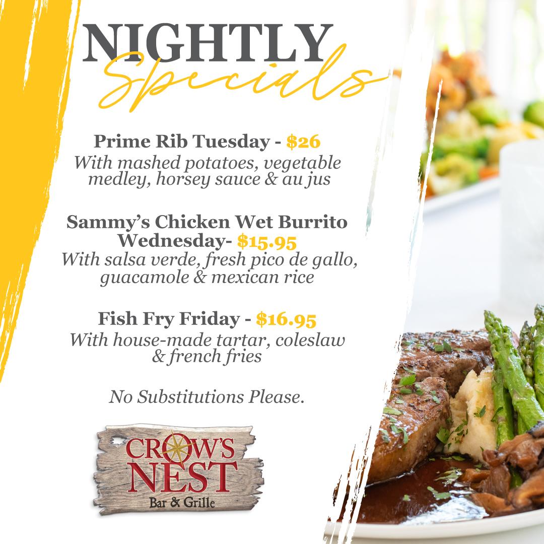 Dinner on Captiva Island, Florida at Crow's Nest Bar & Grille