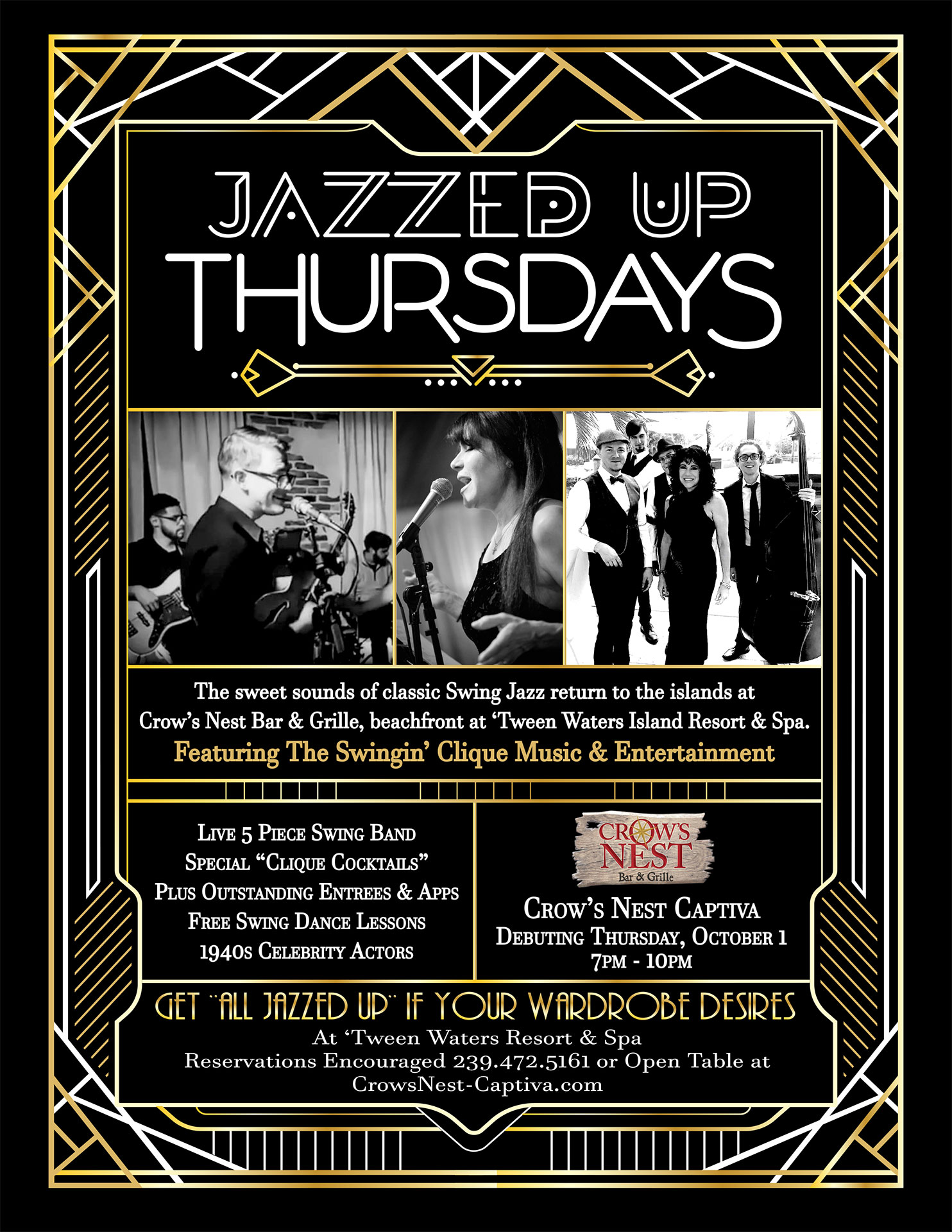 Sanibel Island Live Music Jazz Crow's Nest Bar & Grille Captiva Island
